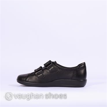 Ecco Soft 2.0 Velcro Comfort - Black