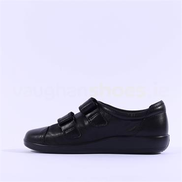 Ecco Women Soft 2.0 Velcro - Black Leather