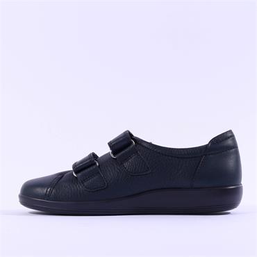 Ecco Women Soft 2.0 Velcro - Navy Leather