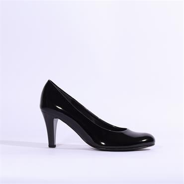 Gabor High Dress Court Shoe - Black Patent