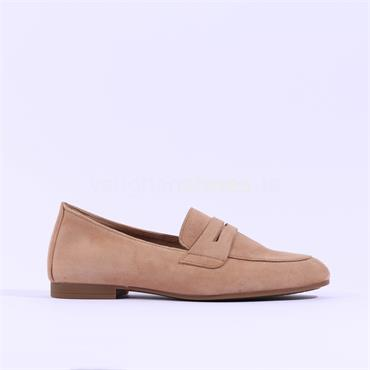 Gabor Low Heel Slip On Loafer Viva - Light Tan Suede
