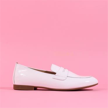 Gabor Low Heel Slip On Loafer Viva - White Patent