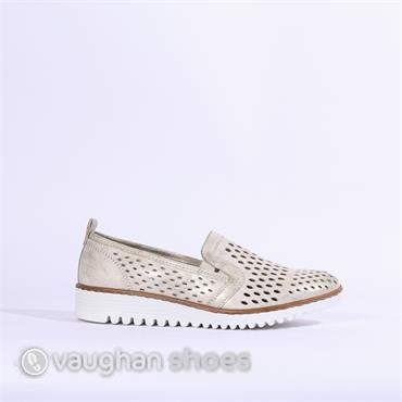 Jenny Portland Perforated Slip On - Nude