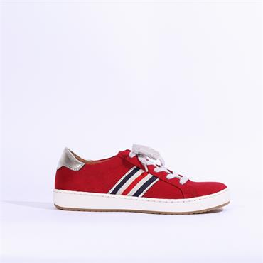 Jenny Dublin Ribbon Laced Trainer - Red