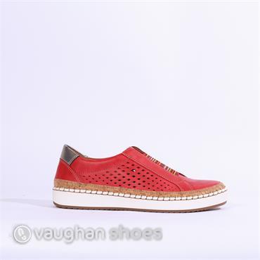 Jenny Dublin Multi Elasticated Slip On - Red