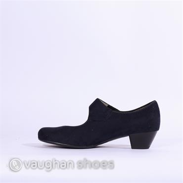 Jenny Low COurt Velcro Strap Catania - Navy Suede