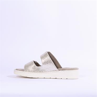 Jenny Korsika Double Buckle Low Sandal - Silver