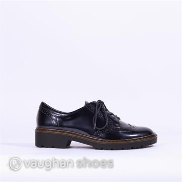 Jenny Brogue Laced Shoe - Navy