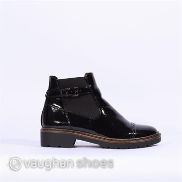 Jenny Casual Boot With Buckle And Gusset - Black