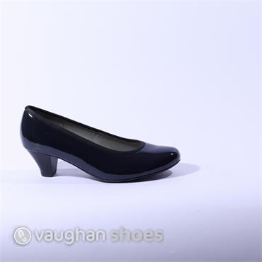 Ara Patent Court Shoe - Navy