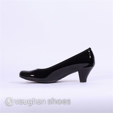 Ara Patent Court Shoe - Black Pat