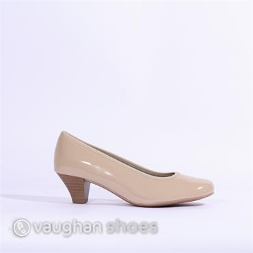 Jenny Auckland Patent Court Shoe - Nude