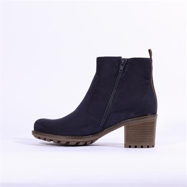 Jenny Madison Block Heel Boot - Navy