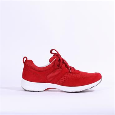 Gabor Ibiza Laced Comfort Trainer - Red