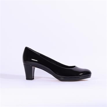 Gabor Platform Court Shoe Figaro - Black