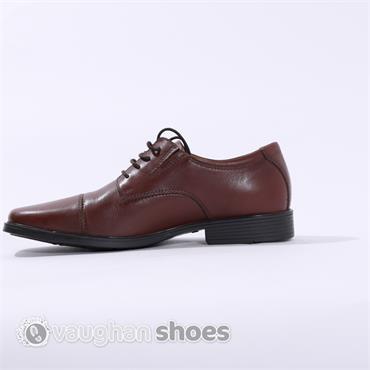 Clarks Tilden Cap - Brown Leather