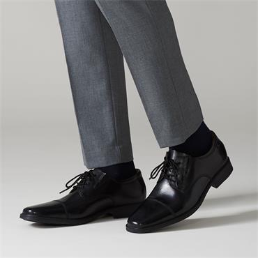 Clarks Tilden Cap - Black Leather