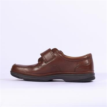 Clarks Swift Turn - Brown Leather