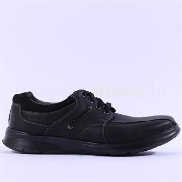 Clarks Men Cotrell Walk H Wide Fit - Black Leather