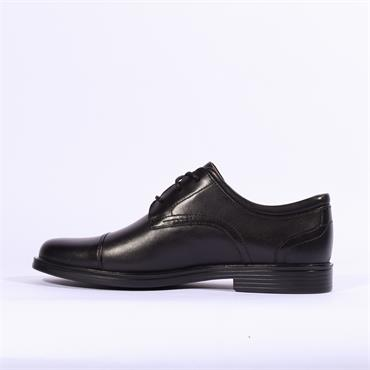Clarks Un Aldric Cap - Black Leather