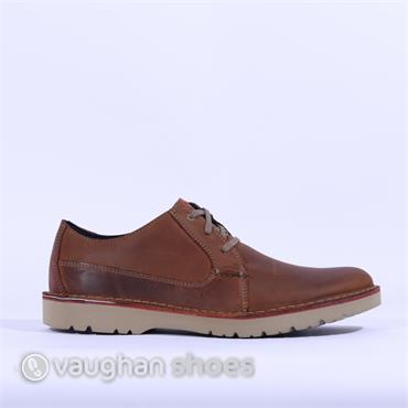 Clarks Vargo Plain - Dark Tan Lea