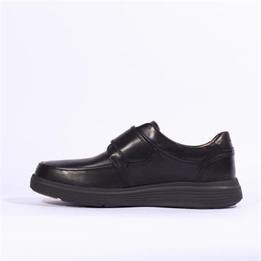 Clarks Un Abode Strap - Black Leather