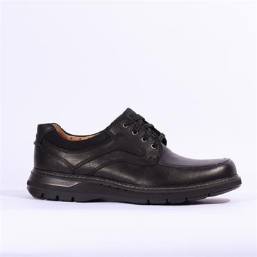 Clarks Un Ramble Lace - Black Leather