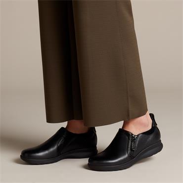 Clarks Un Adorn Zip - Black Combi