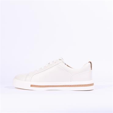 Clarks Un Maui Lace - White Leather