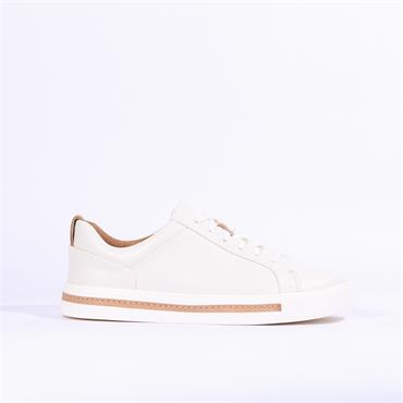 Clarks Un Maui Lace - White Leather