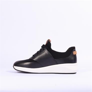 Clarks Un Rio Lace - Black Leather