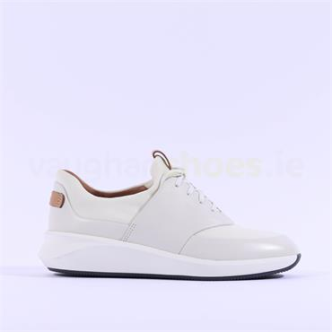 Clarks Un Rio Lace - White Leather