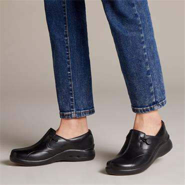 Clarks Un.Loop2 Walk - Black Leather