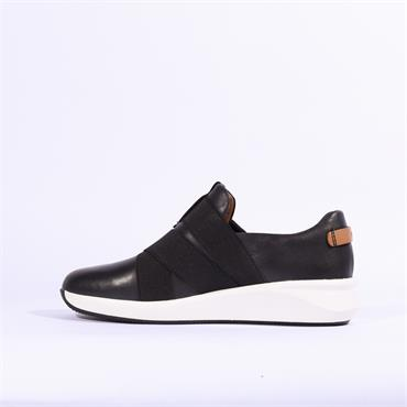 Clarks Un Rio Strap - Black Leather