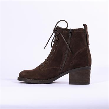 Clarks Thornby Lace - Dark Brown Suede