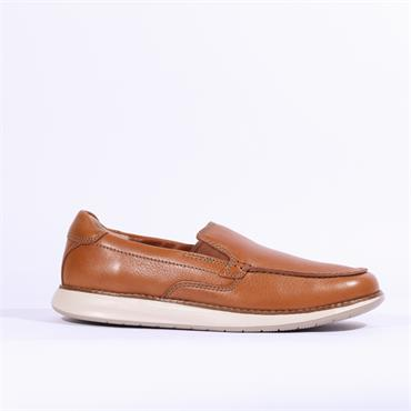 Clarks Un Pilot Step - Tan Leather