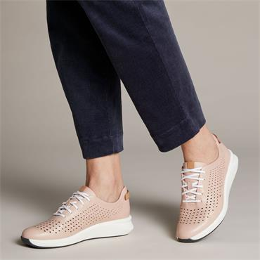 Clarks Un Rio Tie - Blush Leather