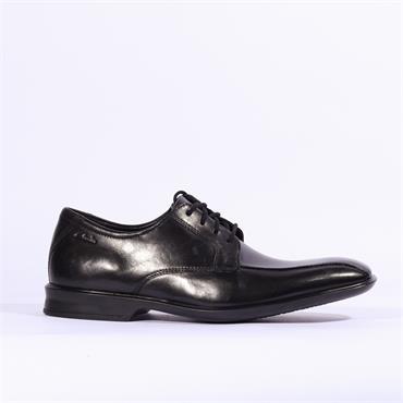 Clarks Bensley Run - Black Leather