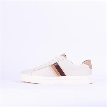 Clarks Un Maui Band - White Leather
