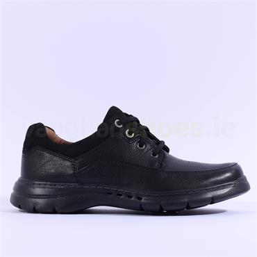 Clarks Un Brawley Lace - Black Leather