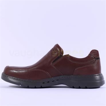 Clarks Men Un Brawley Step - Mahogany Leather