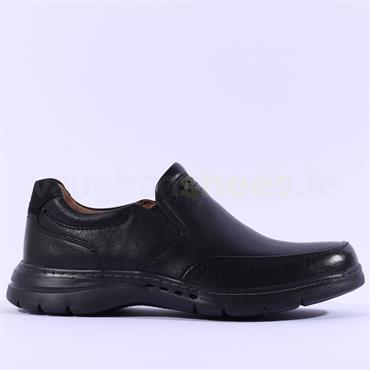 Clarks Men Un Brawley Step - Black Leather