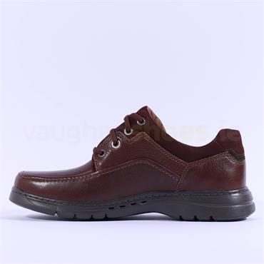 Clarks Un Brawley Lace - Mahogany Leather