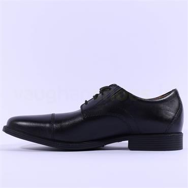 Clarks Men Toe Cap Whiddon - Black Leather