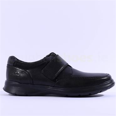 Clarks Cotrell Strap - Black Leather