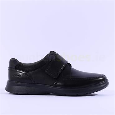 Clarks Men Cotrell Strap H Wide Fit - Black Leather