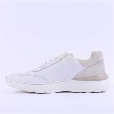 Clarks Men Sprintlite Lace - White Combi Leather
