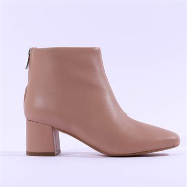 Clarks Women Sheer 55 Zip Ankle Boot - Nude Leather