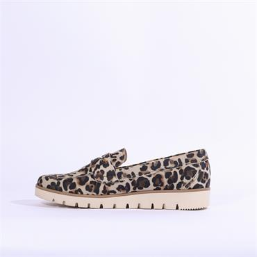 Gabor Rotor Cleated Sole Loafer - Leopard Combi
