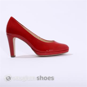Gabor Platform Court Shoe - Red